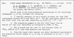 Thumbnail of DIODE LASER SPECTROSCOPY OF $SF_{6}$ AN UPDATE