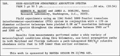 Thumbnail of HIGH-RESOLUTION ATMOSPHERIC ABSORPTION SPECTRA FROM 3 $\mu  m$ TO 5 $\mu $m