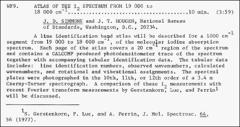 Thumbnail of ATLAS OF THE $I_{2}$ SPECTRUM FROM 19 000 to 18, 000 $cm^{-1}$