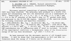 Thumbnail of MICROWAVE SPECTRUM OF BiF