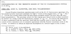 Thumbnail of REEXAMINATION OF THE DISCRETE REGION OF THE UV FLUORESCENCE SYSTEM D + X IN $I_{2}$