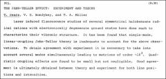 Thumbnail of THE JAIN-TELLER EFFECT: EXPERIMENT AND THEORY