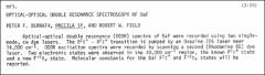 Thumbnail of OPTICAL-OPTICAL DOUBLE RESONANCE SPECTROSCOPY OF BaF