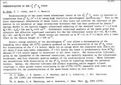 Thumbnail of PREDISSOCIATION OF THE $O^{+} f^{4} \pi_{g}$ STATE