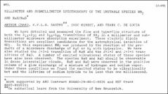 Thumbnail of MILLIMETER AND SUBMILLIMETER SPECTROSCOPY OF THE UNSTABLE SPECIES $NH_{2}$ AND NaH/NaD $^{*}$