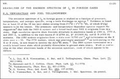 Thumbnail of REANALYSIS OF THE EMISSION SPECTRUM OF $I_{2}$ IN FOREIGN GASES