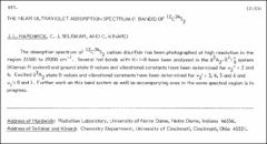 Thumbnail of THE NEAR ULTRAVIOLET ABSORPTION SPECTRUM ($\sum$BANDS) OF $^{12}C{^{34}S_{2}}$