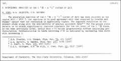 Thumbnail of A ROTATIONAL ANALYSIS OF THE $C   ^{1}\Pi - X   ^{1}\Sigma^{+}$ SYSTEM OF InCl