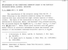 Thumbnail of $\tau$-DEPENDENCE OF THE VIBRATIONAL ZEROPOINT ENERGY IN THE PARTIALLY DEUTERATED METHYL ALCOHOLS, REVISITED