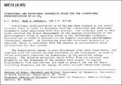 Thumbnail of VIBRATIONAL AND ROTATIONAL PROPENSITY RULES FOR THE VIBRATIONAL PREDISSOCIATION OF $Ar--CO_{2}$