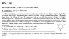 Thumbnail of SPECTRUM OF THE $\nu_{11}$ BAND OF CYANURIC FLUORIDE