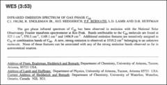 Thumbnail of INFRARED EMISSION SPECTRUM OF GAS PHASE $C_{60}$