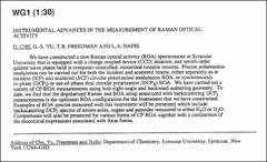 Thumbnail of INSTRUMENTAL ADVANCES IN THE MEASUREMENT OF RAMAN OPTICAL ACTIVITY