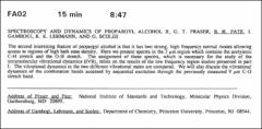 Thumbnail of SPECTROSCOPY AND DYNAMICS OF PROPARGYL ALCOHOL II