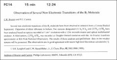 Thumbnail of Observation of Several New Electronic Transitions of the $B_{2}$ Molecule