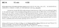 Thumbnail of INFRARED FAR-INFRARED DOUBLE RESONANCE STUDY ON ($NH_{3}$)$_{2}$ IN A JET