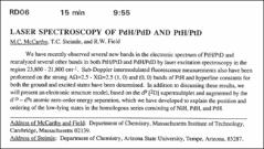 Thumbnail of LASER SPECTROSCOPY OF PdH/PdD AND PtH/PtD