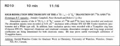 Thumbnail of HIGH RESOLUTION SPECTROSCOPY OF THE $A^{3}\Pi(1_\alpha)-X^{1}\Sigma_g^{+}$ TRANSITION OF $I^{79}Br$ AND $I^{81}Br$
