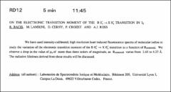 Thumbnail of ON THE ELECTRONIC TRANSITION MOMENT OF THE $BO^{+}_u\rightarrow X O^{+}_g$ TRANSITION IN $I_{2}$