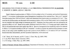 Thumbnail of HIGH-RESOLUTION STUDIES OF OH/D(A, v=1)-Ar VIBRATIONAL PREDISSOCIATION