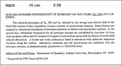 Thumbnail of INDUCED INFRARED SPECTROSCOPY OF HYDROGEN ON NaCl FILMS