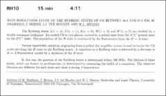 Thumbnail of HIGH RESOLUTIOM STUDY OF THE RYDBERG STATES OF CO BETWEEN 96.8 AND 97.8 NM