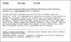 Thumbnail of AB INTIO SELF-CONSISTENT FIELD AND CONFIGURATION INTERACTION STUDIES OF $Cs(H_{2}O)_{n}^{+}, n=1-6$
