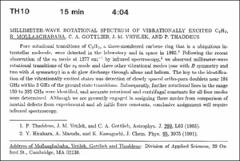 Thumbnail of MILLIMETER-WAVE ROTATIONAL SPECTRUM OF VIBRATIONALLY EXCITED $C_{3}$$H_{2}$