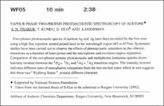 Thumbnail of VAPOUR PHASE TWO PHOTON PHOTOACOUSTIC SPECTROSCOPY OF $ACETONE^{*}$