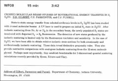 Thumbnail of CROSSED MOLECULAR BEAMS STUDIES OF ROVIBRATIONAL ENERGY TRANSFER IN $S_{1}D_{2}CO$.
