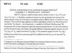 Thumbnail of METHYL ROTOR EFFECTS ON ACETONE RYDBERG $SPECTRA^{\dagger}$