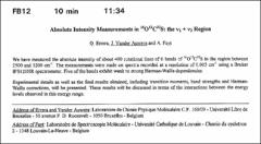 Thumbnail of Absolute Intensity Measurements in $^{16}O^{12}C^{32}S$: the $\nu_{1} + \nu_{3}$ Region