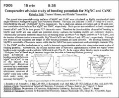 Thumbnail of Comparative {ab initio} study of bending potentials for MgNC and CaNC