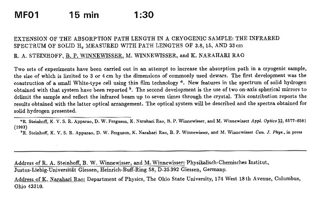 extension of tmf absorption path length in a cryogenic sample the extension of tmf absorption path length in a cryogenic sample the infrared spectrum of solid h 2 measured path lengths of 3 8 15 and 33 cm