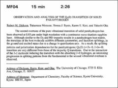 Thumbnail of OBSERVATION AND ANALYSIS OF THE $Q_{3}(0)$ TRANSITION OF SOLID PARAHYDROGEN
