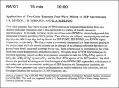 Thumbnail of Applications of Two-Color Resonant Four-Wave Mining to SEP Spectroscopy