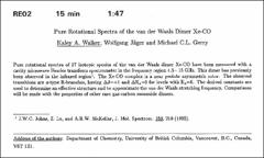 Thumbnail of Pure Rotational Spectra of the van der Waals Dimer Xe-CO