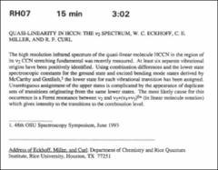 Thumbnail of QUASI-LINEARITY IN HCCN: THE $\nu_{2}$ SPECTRUM