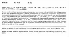 Thumbnail of HIGH RESOLUTION SPECTROSCOPIC STUDIES OF $CHY_{2}F_{2}$: THE $\nu_{6}$ BAND AT $3014  CM^{-1}$.