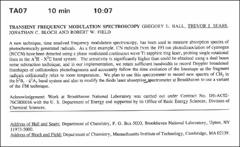 Thumbnail of TRANSIENT FREQUENCY MODULATION SPECTROSCOPY GREGORY