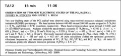 Thumbnail of OBSERVATION OF TWO NEW ELECTRONIC STATES OF THE $PCl_{2}$ RADICAL