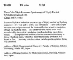 Thumbnail of Three-Color Triple Resonance Spectroscopy of Highly Excited {ng} Rydberg States of NO