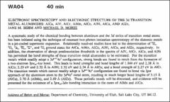 Thumbnail of ELECTRONIC SPECTROSCOPY AND ELECTRONIC STRUCTURE OF THE 3d TRANSITION METAL ALUMINIDES: AlCa, AlV, AlCr, AlMn, AlCo, AlNi, AlCu, AND AlZn