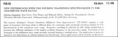 Thumbnail of NEW EXPERIENCES WITH THE FOURIER TRANSFORM SPECTROMETER IN THE MILLIMETER WAVE RANGE