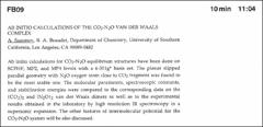 Thumbnail of AB INITIO CALCULATIONS OF THE $CO_{2}-N_{2}O$ VAN DER WAALS COMPLEX