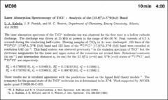 Thumbnail of LASER ABSORPTION SPECTROSCOPY OF $TiCl^{+}$ : ANALYSIS OF THE [17.9]$^{3}\Delta-X^{3}\Phi(0, 0)$ Band