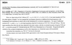 Thumbnail of EXCITATION TEMPERATURES DETERMINED FROM $H^{+}_{3}$ HOT BAND EMISSION IN THE JOVIAN IONOSPHERE