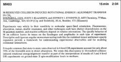 Thumbnail of M-RESOLVED COLLISION-INDUCED ROTATIONAL ENERGY / ALIGNMENT TRANSFER IN $CH_{4}$