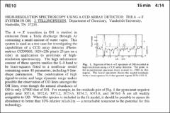 Thumbnail of HIGH-RESOLUTION SPECTROSCOPY USING A CCD ARRAY DETECTOR: THE A $\rightarrow$ X SYSTEM IN OH