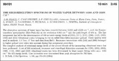 Thumbnail of THE HIGH-RESOLUTION SPECTRUM OF WATER VAPOUR BETWEEN 11300 AND $13200  CM^{-1}$